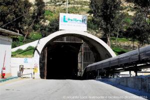 L'ingresso della miniera dell'Italkali a Realmonte il sito minerario si trova nelle vicinanze della Scala dei Turchi a 200 metri sotto terra dove si estrae il salgemma