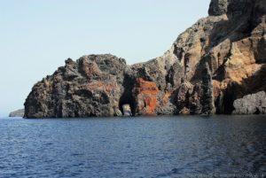 La punta del Perciato vicino ai Faraglioni di Lipari