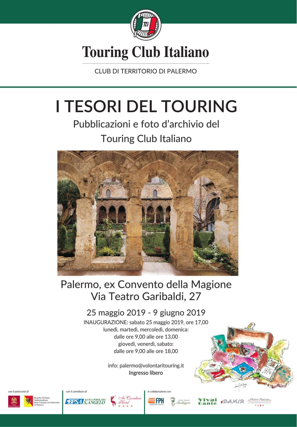 I Tesori del Touring – Palermo ex Convento della Magione 2019