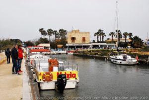 Dal canale partono i battelli diretti all'isola di Mozia.
