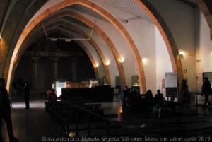 La grande sala del museo del Baglio Florio.