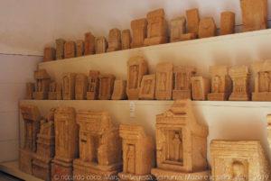 Varie stele custodite nel Museo di Mozia.