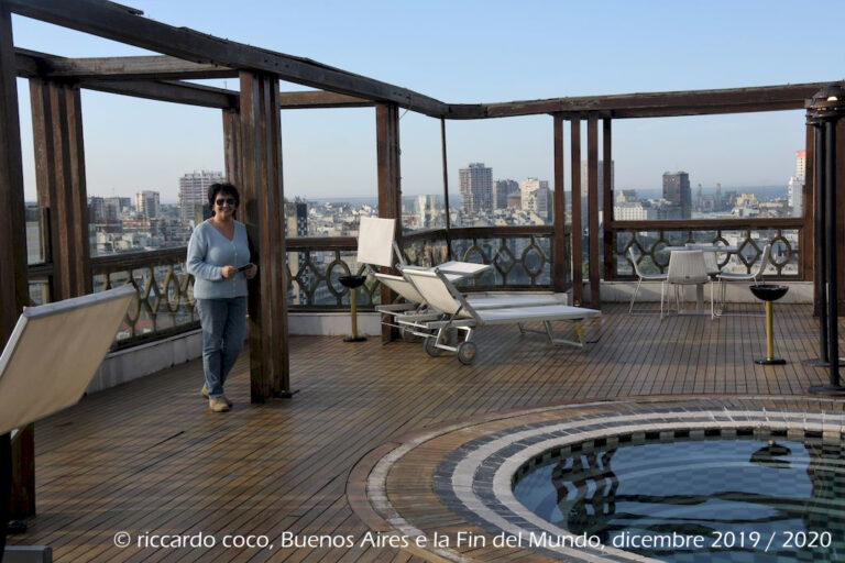La terrazza dell'Hotel Panamericano dove abbiamo alloggiato al nostro arrivo a Buenos Aires.