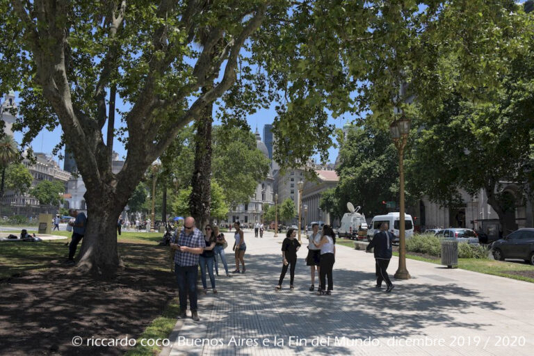 I viali della Plaza de Mayo di Buenos Aires.