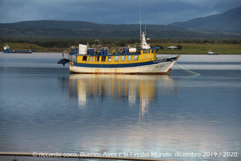 Puerto Natales sul Golfo Almirante Montt in Cile