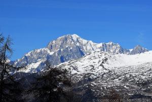 Il Monte Bianco da Pila