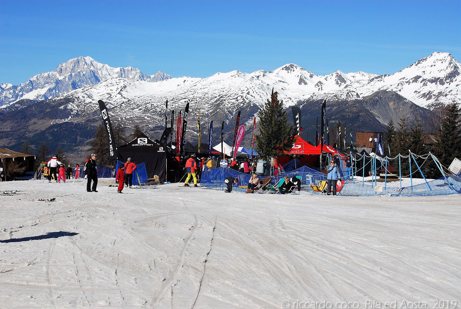 Settimana bianca 2019, Pila e Aosta