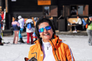 Una sciatrice soddisfatta ...