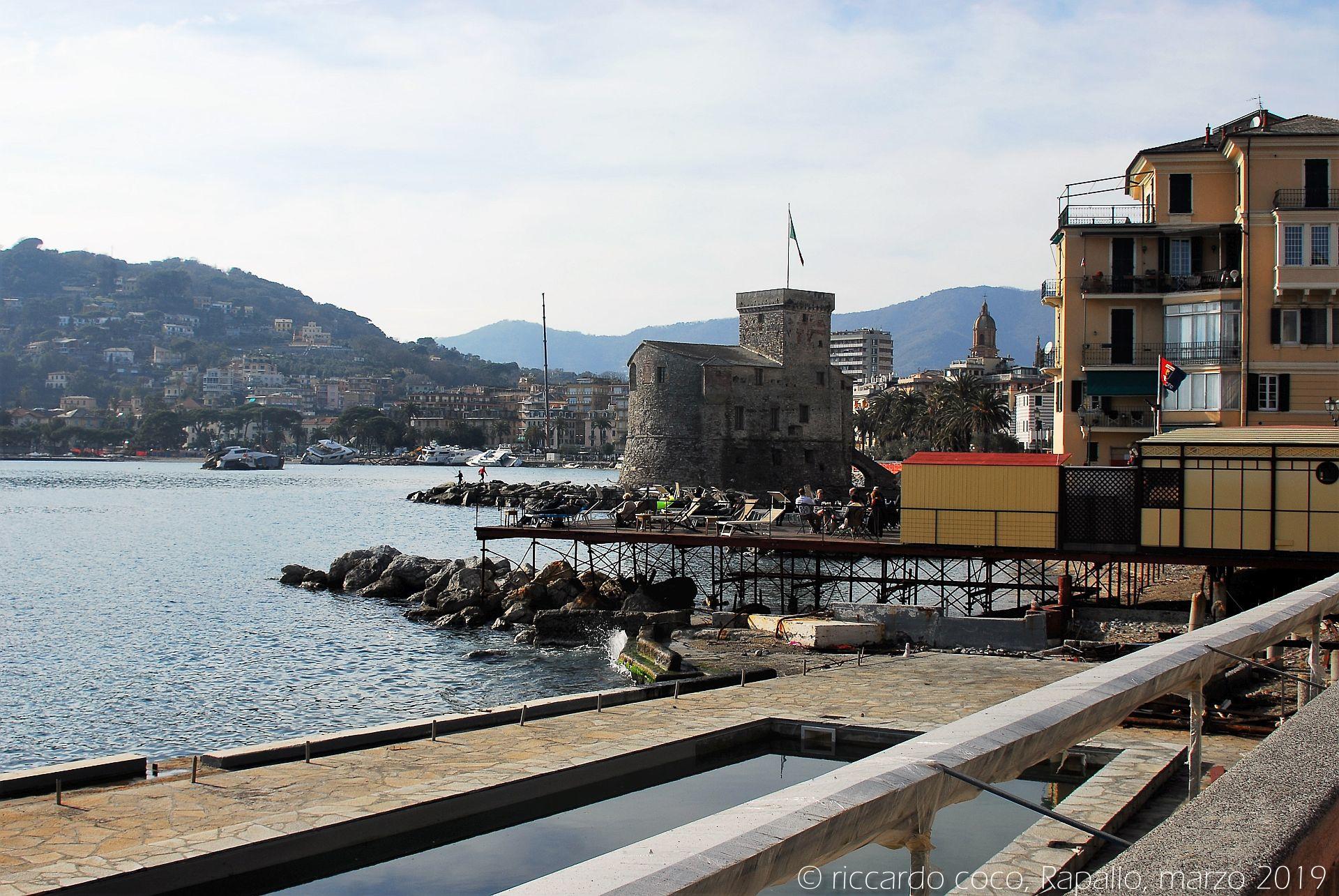 Rapallo, testimonianza fotografica della mareggiata del 29 ottobre 2018