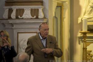 Padrone di casa, l'avv. prof. Lorenzo (Antonio) Lo Monaco, che ha ricoperto in passato il ruolo di luogotenente dell'Ordine, e che ci ha intrattenuto sulle storia dell'Oratorio.