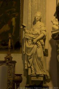 """La statua di """"Sant'Agata""""."""