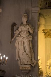 """La statua di """"Santa Nympha"""""""